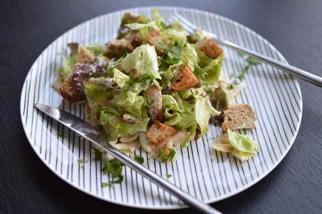 Caesar-Salad-Pasta oder: hmmmlisch