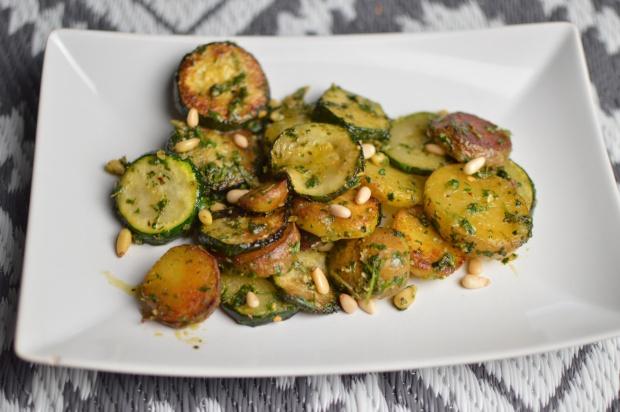 Kartoffel Zucchini Pfanne1